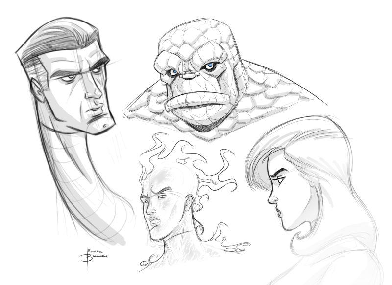 Fantastic Four sketch by MBorkowski on DeviantArt
