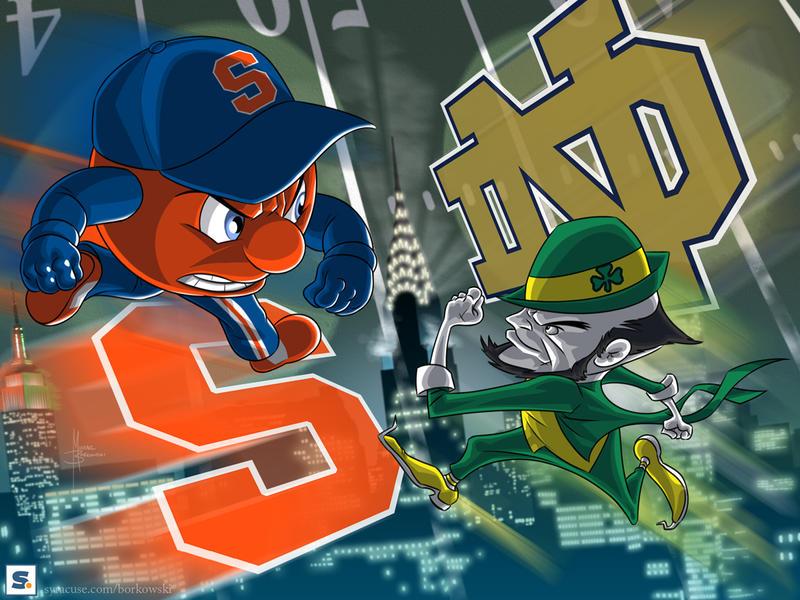 Syracuse vs. Notre Dame art by MBorkowski