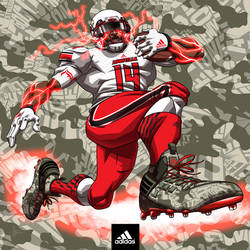 adidas football art- Louisville Cardinals by MBorkowski