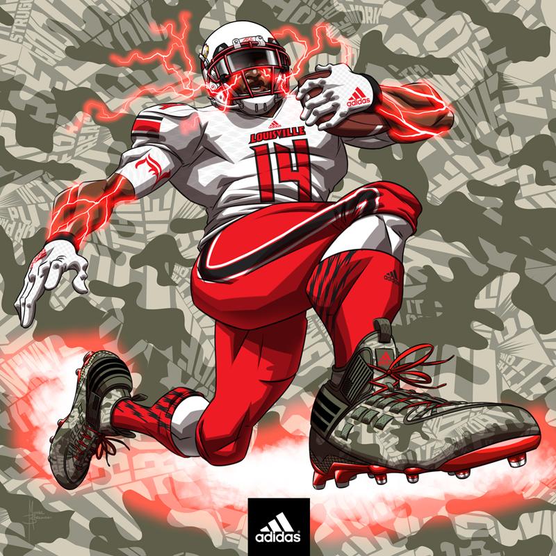 adidas football art- Louisville Cardinals by MBorkowski