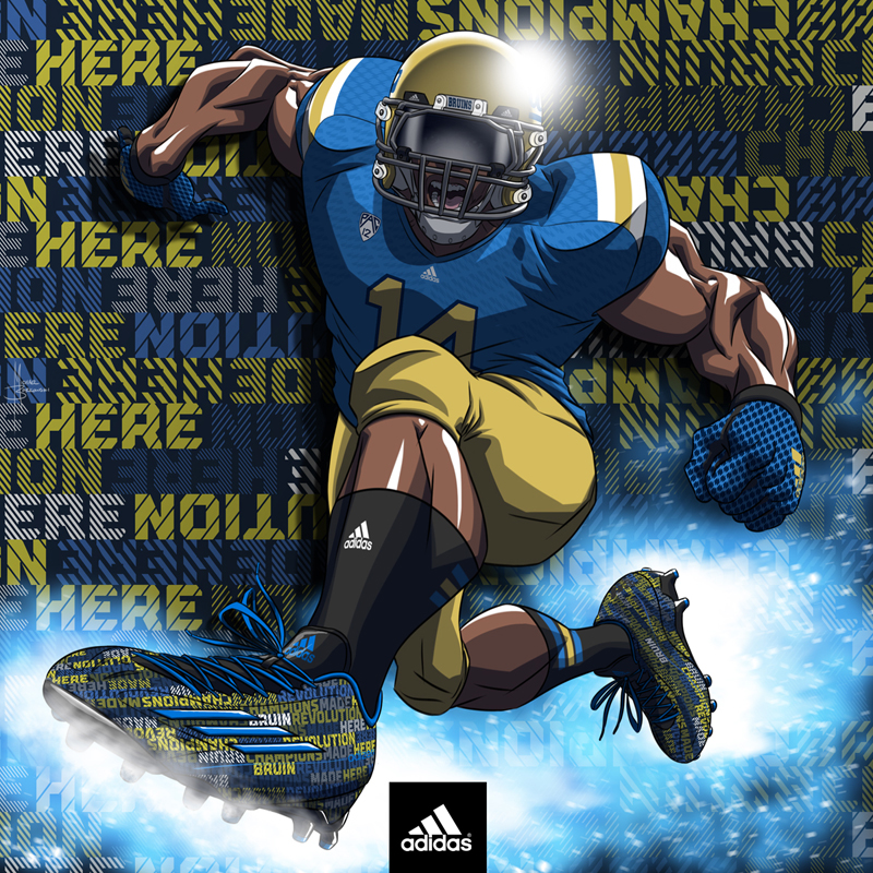 adidas football art- UCLA Bruins by MBorkowski