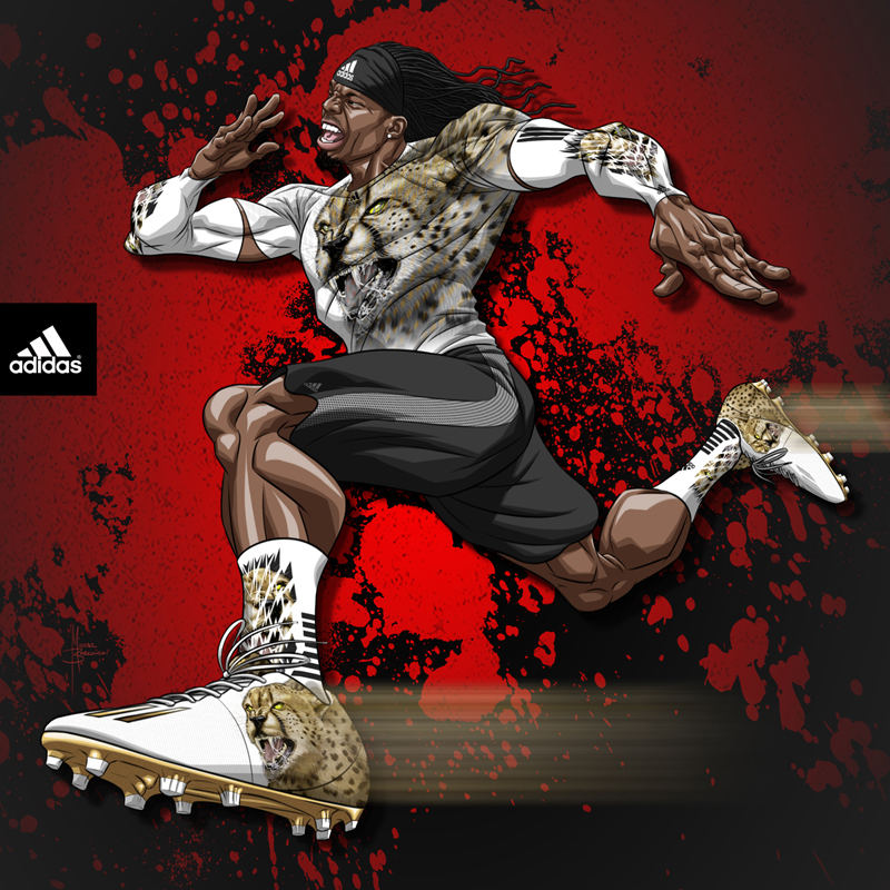 adidas NFL Combine art - Kevin White by MBorkowski