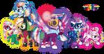 Rainbow Power Crystal Ponies by InfiniteWarlock