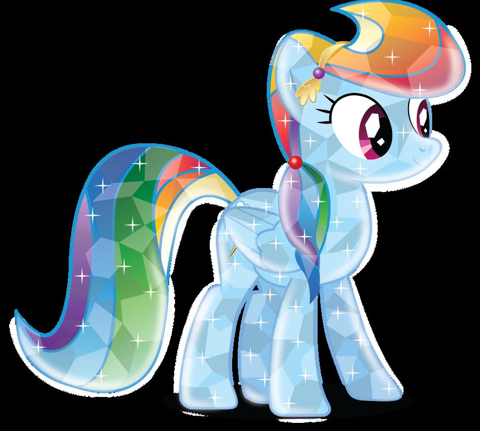 Rainbow Dash Crystal Version 2 By Infinitewarlock On Deviantart