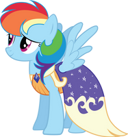 Rainbow Dash in Gala Dress by InfiniteWarlock
