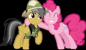 Daring Do and Pinkie Pie