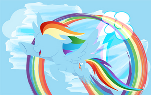 Rainbow Dash Poster by InfiniteWarlock