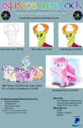Infinite Warlock's Commission Info Board