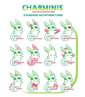 Charminis - Standard Mutations Card by peachubun