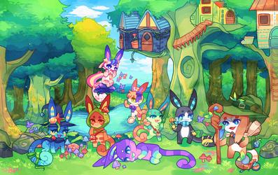 Charminis - Enchanted Forest (Desktop Wallpaper)