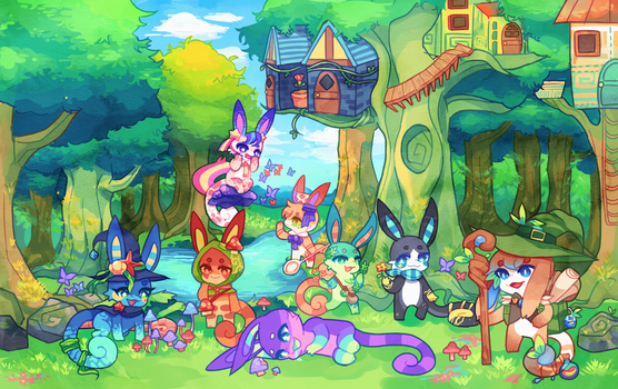Charminis - Enchanted Forest (Desktop Wallpaper)