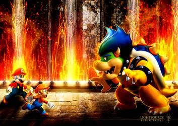 Mario-Future Battle by xXLightsourceXx