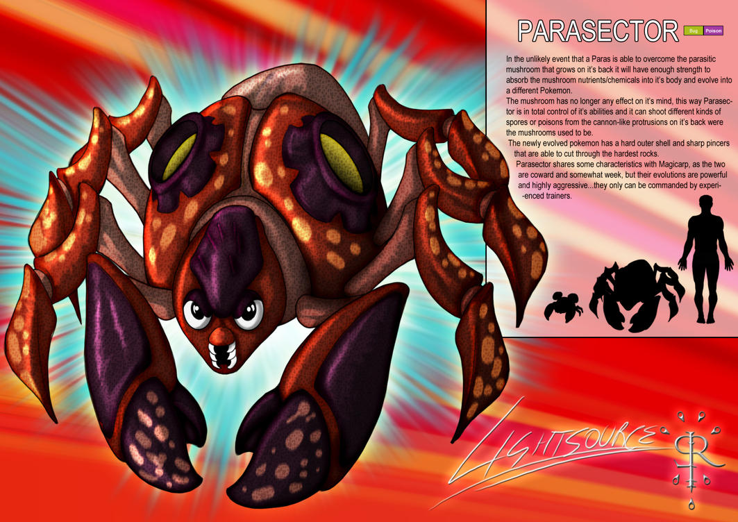 Parasector-Pokemon concept by xXLightsourceXx