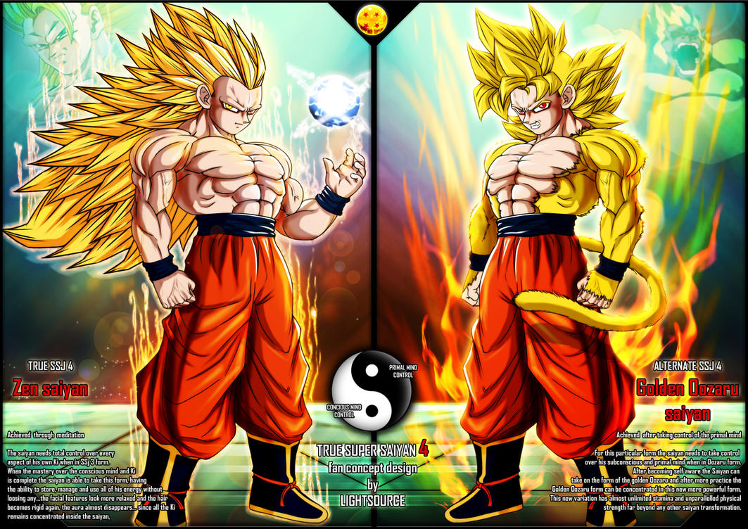 True Super Saiyan 4 Fan Concept By XXLightsourceXx On