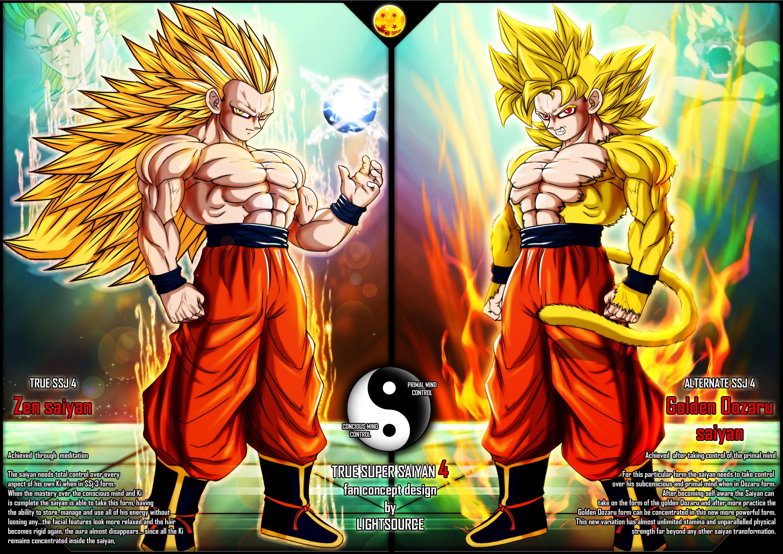 True Super Saiyan 4 fan concept by xXLightsourceXx on DeviantArt