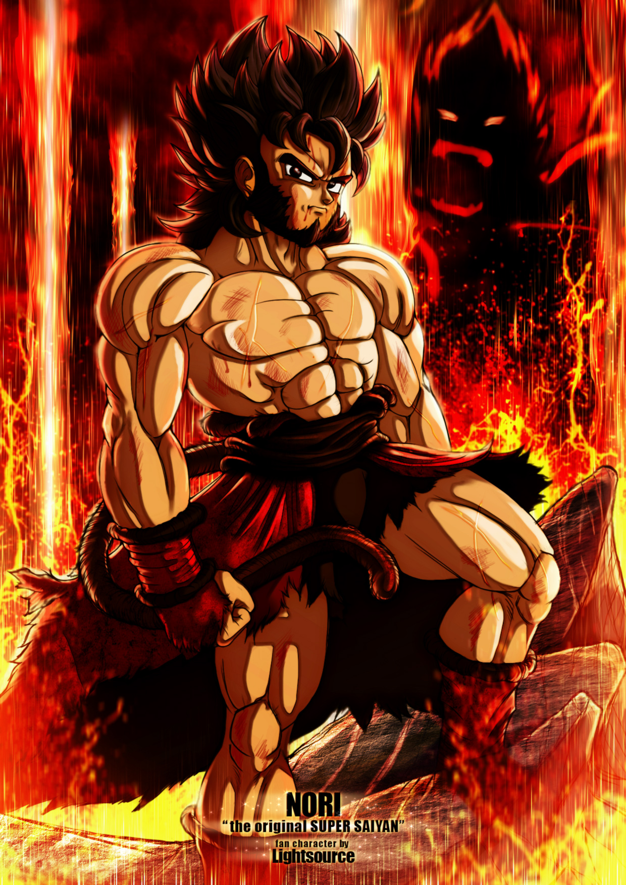 Nori the original Super Saiyan -fan character by xXLightsourceXx