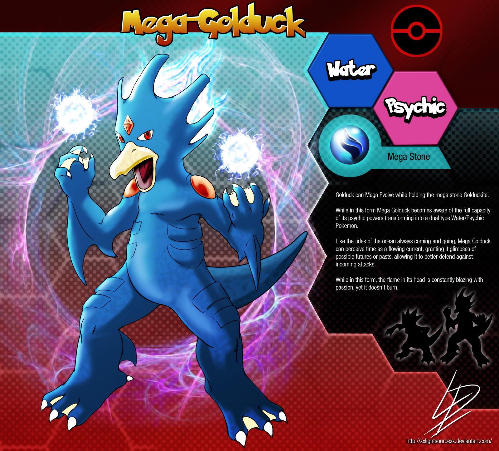 Mega golduck pokemon fan evolution concept by - Pokemon tortank mega evolution ...