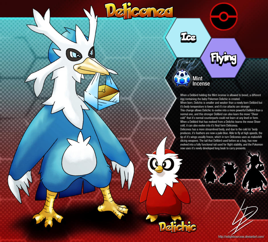 deliconea delibird fan evolution concept by xxlightsourcexx on