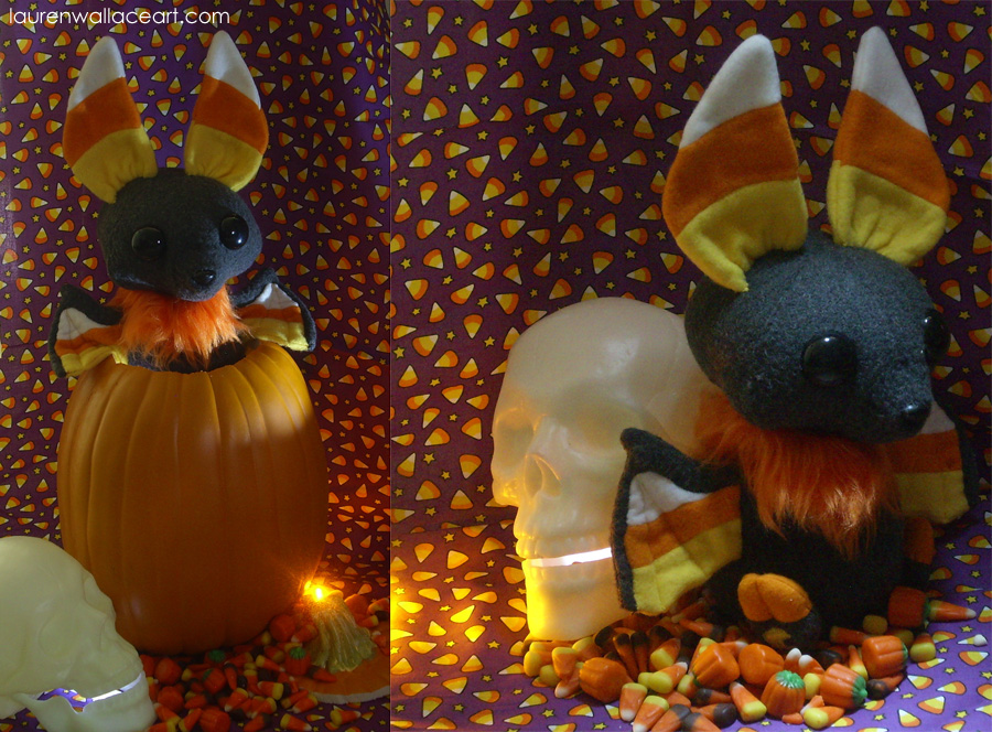 Candycorn Bat Plush 2 by GrowlyLobita