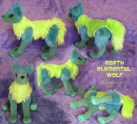 Earth Wolf Plush by GrowlyLobita