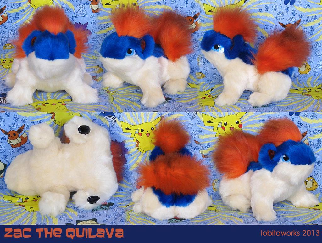 Zac Quilava Plushie by GrowlyLobita