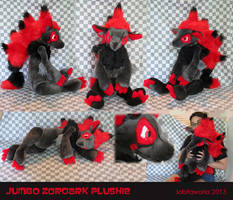 Jumbo Zoroark Plushie by GrowlyLobita