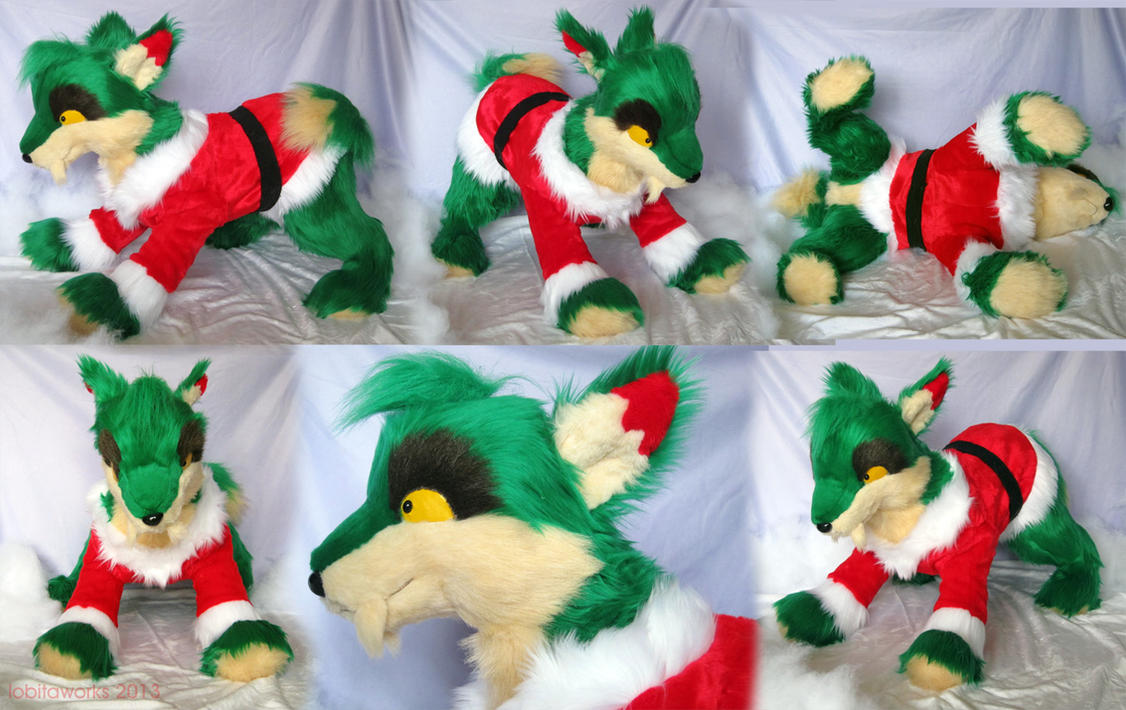 Christmas Lupe Plushie by GrowlyLobita