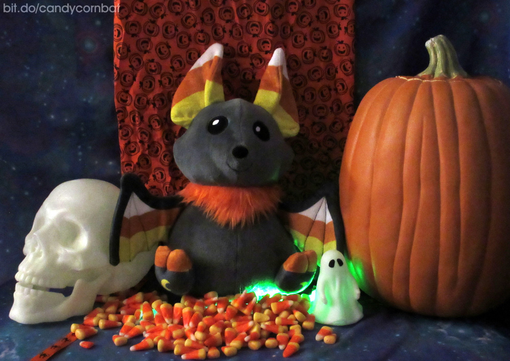 Candycorn Bat Plush Prototype is Here! by GrowlyLobita