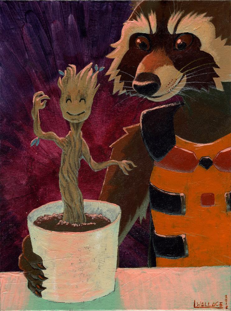 Rocket and Groot by GrowlyLobita