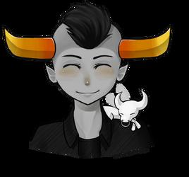 Tavros and Tinkerbull by KiraDessNyaa