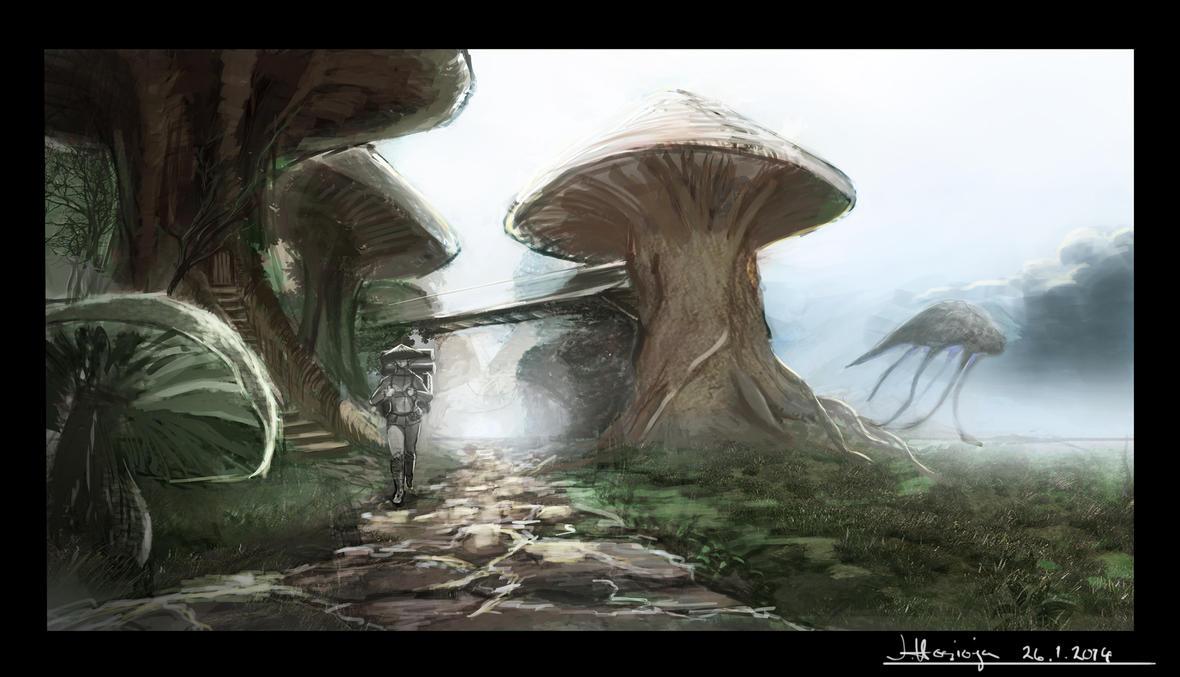 Mushroom Road by SormiPoro