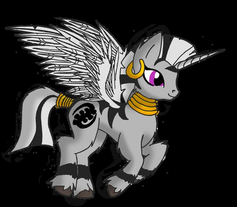 Alicorn Zebra by SilverwolvesForever