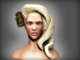 Woman face by iskander71