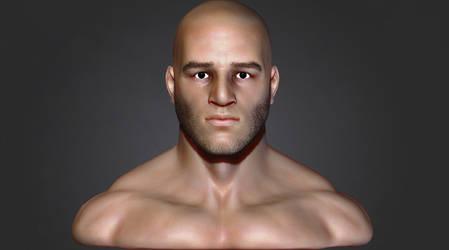 Human male bust