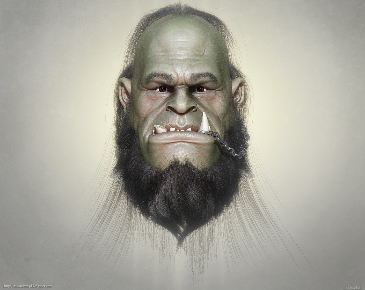Orc portrait by iskander71