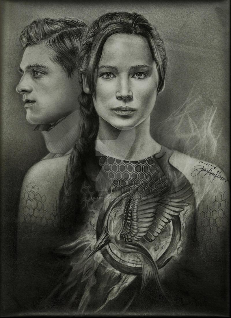 The Hunger Games Star-crossed lovers by JAF-Artwork