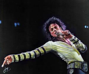 Michael Jackson Moonwalker behind the spotlight by JAF-Artwork