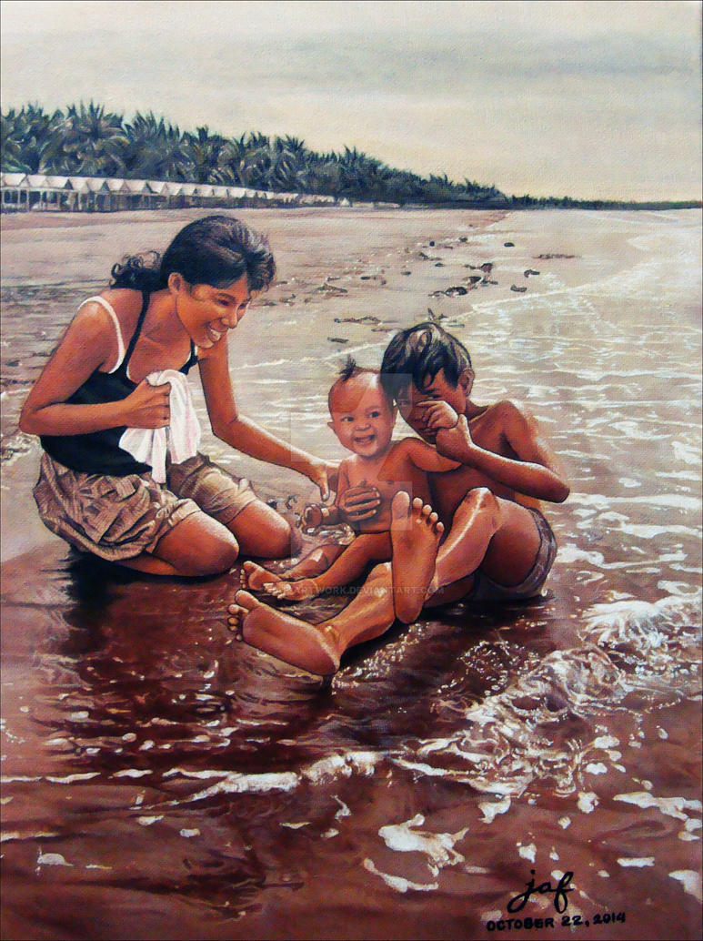 Tampisaw sa dalampasigan (Art of Happiness) by JAF-Artwork