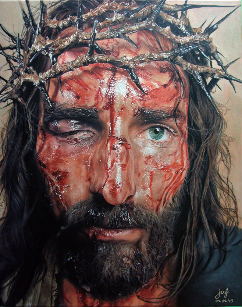 The Passion of Christ - Portrait of Yeshua by JAF-Artwork