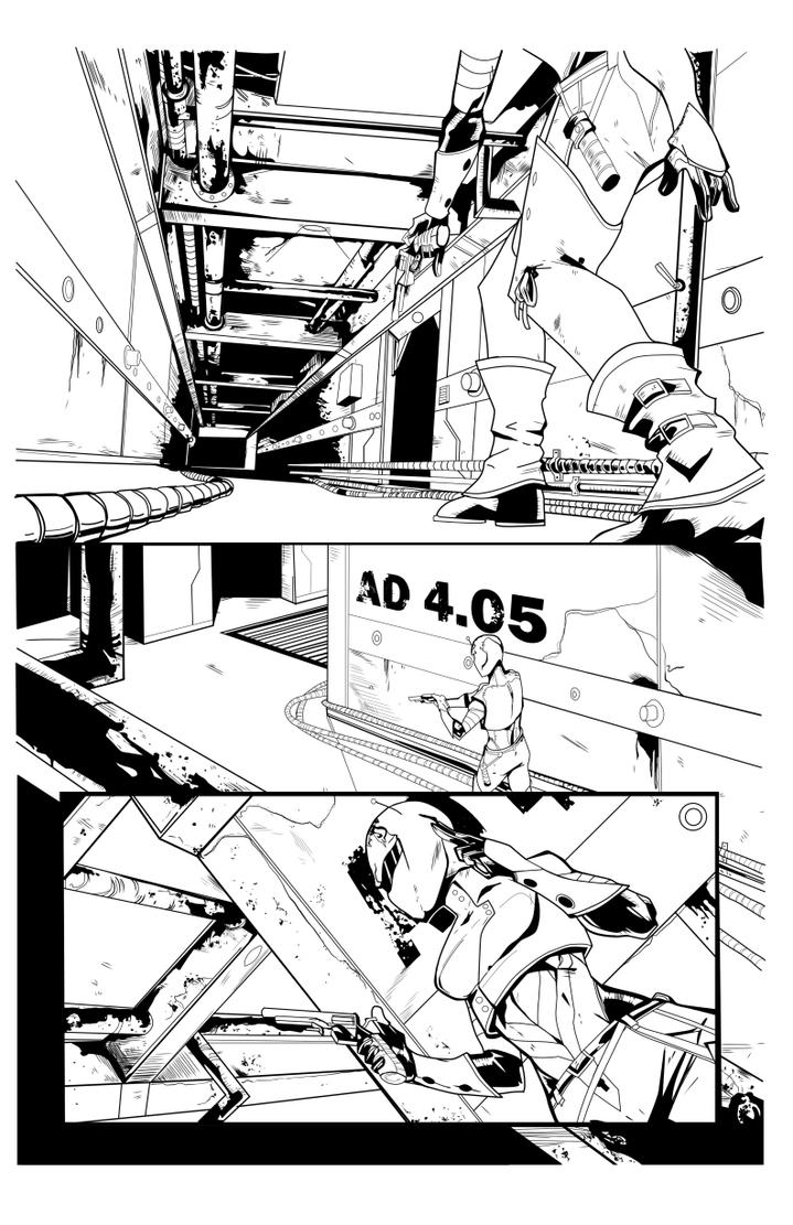 Completed DBW2 page 1 inks by seggleston