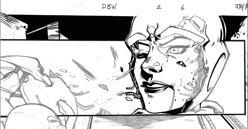 Favorite panel to ink so far... by seggleston