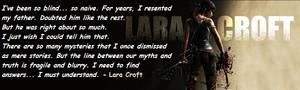 Tomb Raider Forum Signature - Lara Croft Quotes
