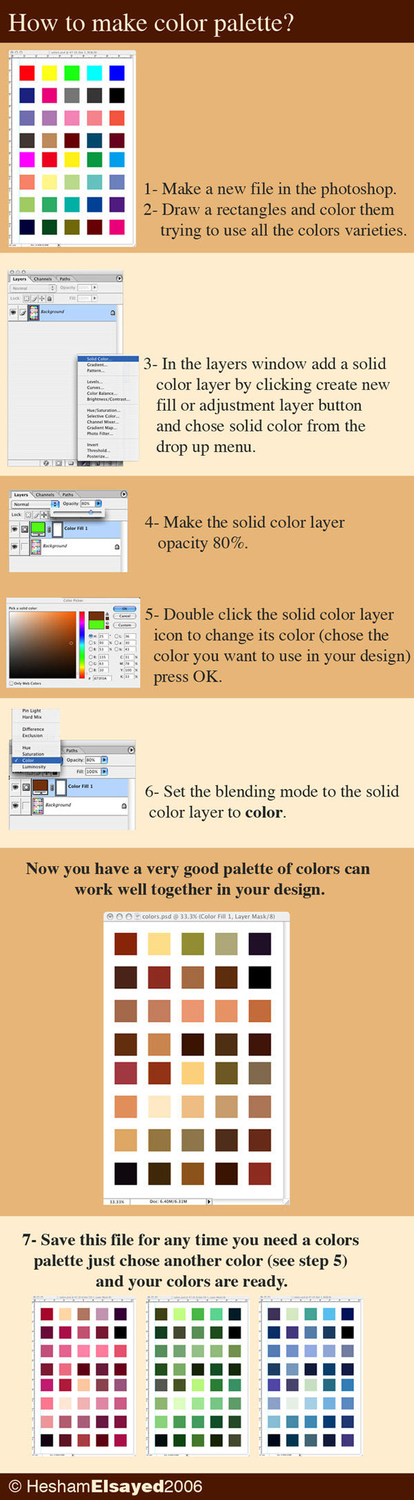 How to make colors palette? by Mash11