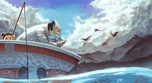 Jotaro's Fishing Trip by Klegs