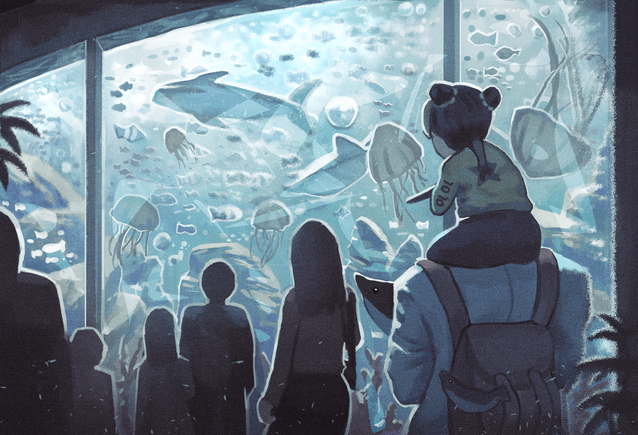 Aquarium Visit by Klegs