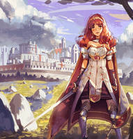 Fire Emblem Echoes - Celica by Klegs