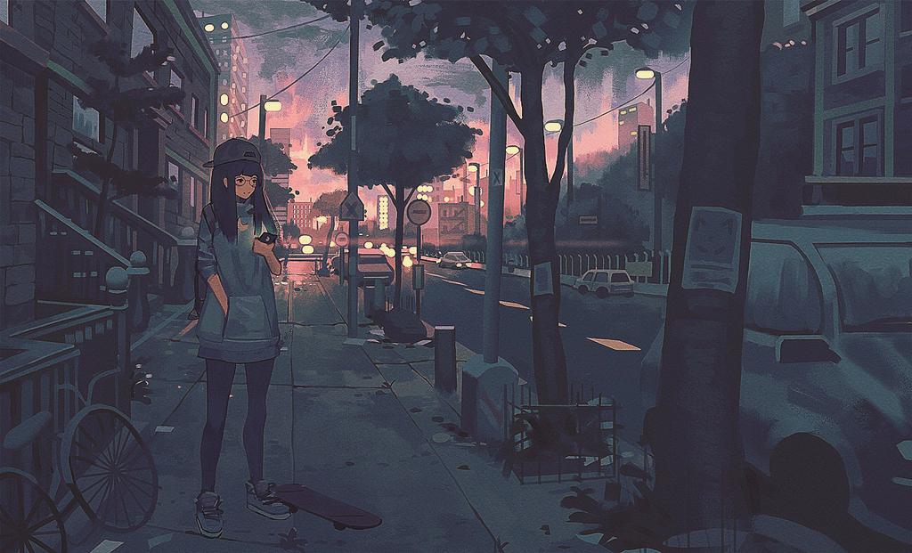 Street Night by Klegs
