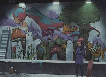 Night Mural by Klegs