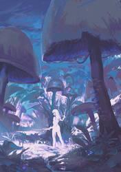Mushroom planet by Klegs
