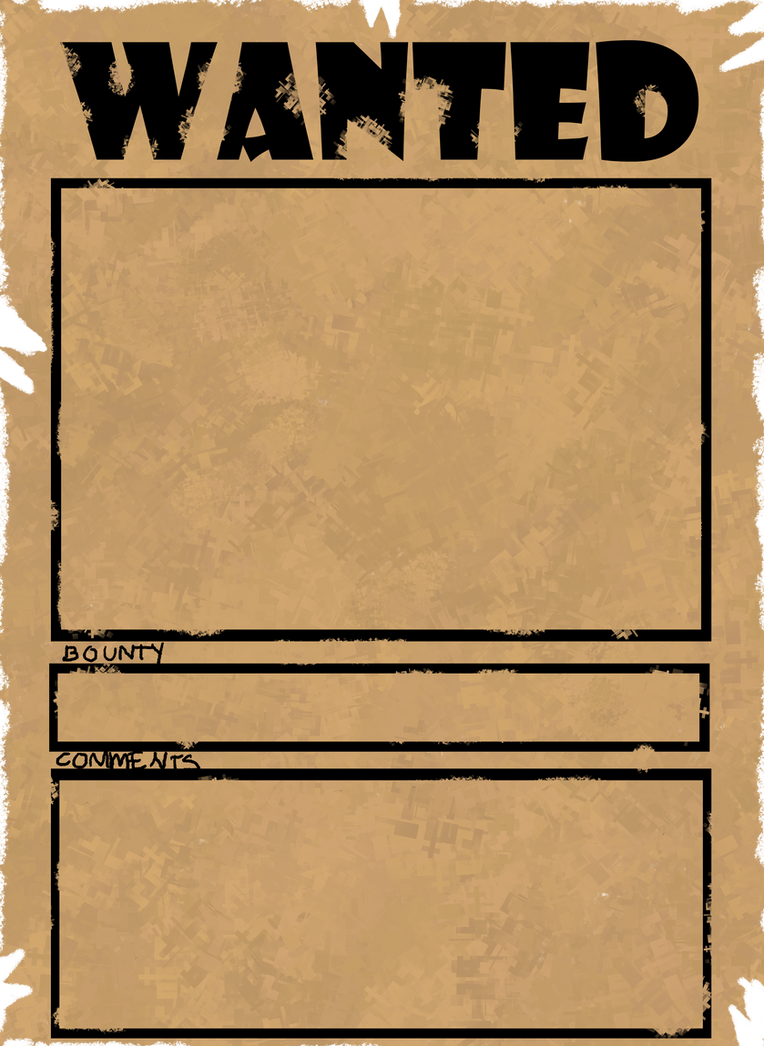 Wanted Poster MEME By Jut5star ...  Printable Wanted Poster Template
